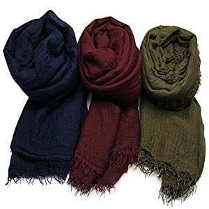 AxeSickle Women Scarf Shawl for All Season 3PCS Scarve Wrap Head Scarve.