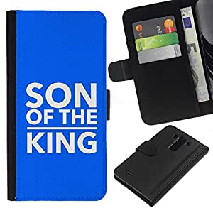 All Phone Most Case / Oferta Especial Cáscara Funda de cuero Monedero Cubierta de proteccion Caso / Wallet Case for LG G3 // BIBLE Son Of The King