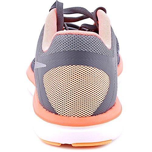 Nike 830751-008, Zapatillas de Trail Running para Mujer Gris (Dark Grey / Mtlc Cool Grey / Bright Mango)