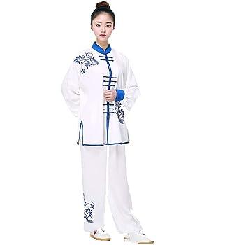 AMhuui Unisex Traje de Tai Chi Artes Marciales Ropa de Kung ...