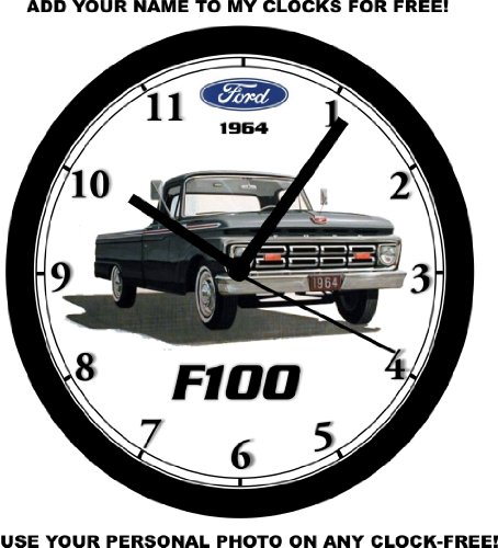 1964 FORD F100 PICKUP TRUCK WALL CLOCK-Free USA Ship ()