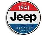 GHaynes Distributing Round Vintage JEEP Since 1941 Sticker Decal (wrangler logo old rat rod) 4 x 4 inch