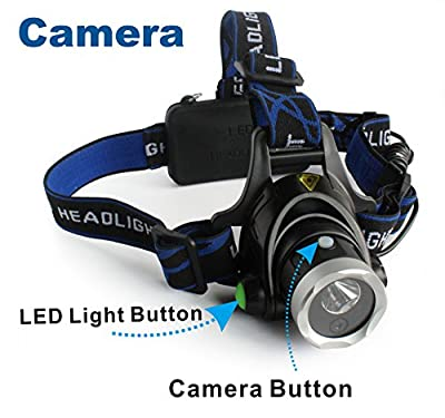 Conbrov® HL01 Mini Wearable Hunting Headlamp with Built in LED Light 2 in 1 Hd Video Camera Recorder Dv for Caving Fishing Camping etc