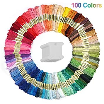 Cuttte - Cuerdas de bordado para manualidades (100 colores, 20 piezas), diseño de bobinas de fantasía, hilo de bordar numerado: Amazon.es: Juguetes y juegos