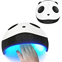 AOLVO Nail Dryer, 36W UV LED Lamp Nail Dryer Cute Panda Nail Heater, 60S/90S/120S 3 Timer Automatic & Quick-Drying Nail Curing Lamp for Salon or Nail Lovers