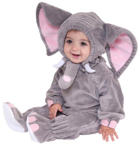 Forum Novelties Baby Boy's Plush Cuddlee Elephant Costume, Multi, Infant