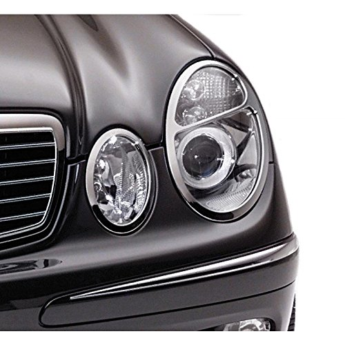 Euromeister 70223746 Mercedes 211 Chassis Chrome Headlight Trim Rings