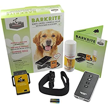 Downtown Pet Supply Water Resistant No-Shock Remote Control Citronella Dog Training eCollar with Remote, Tone and Spray