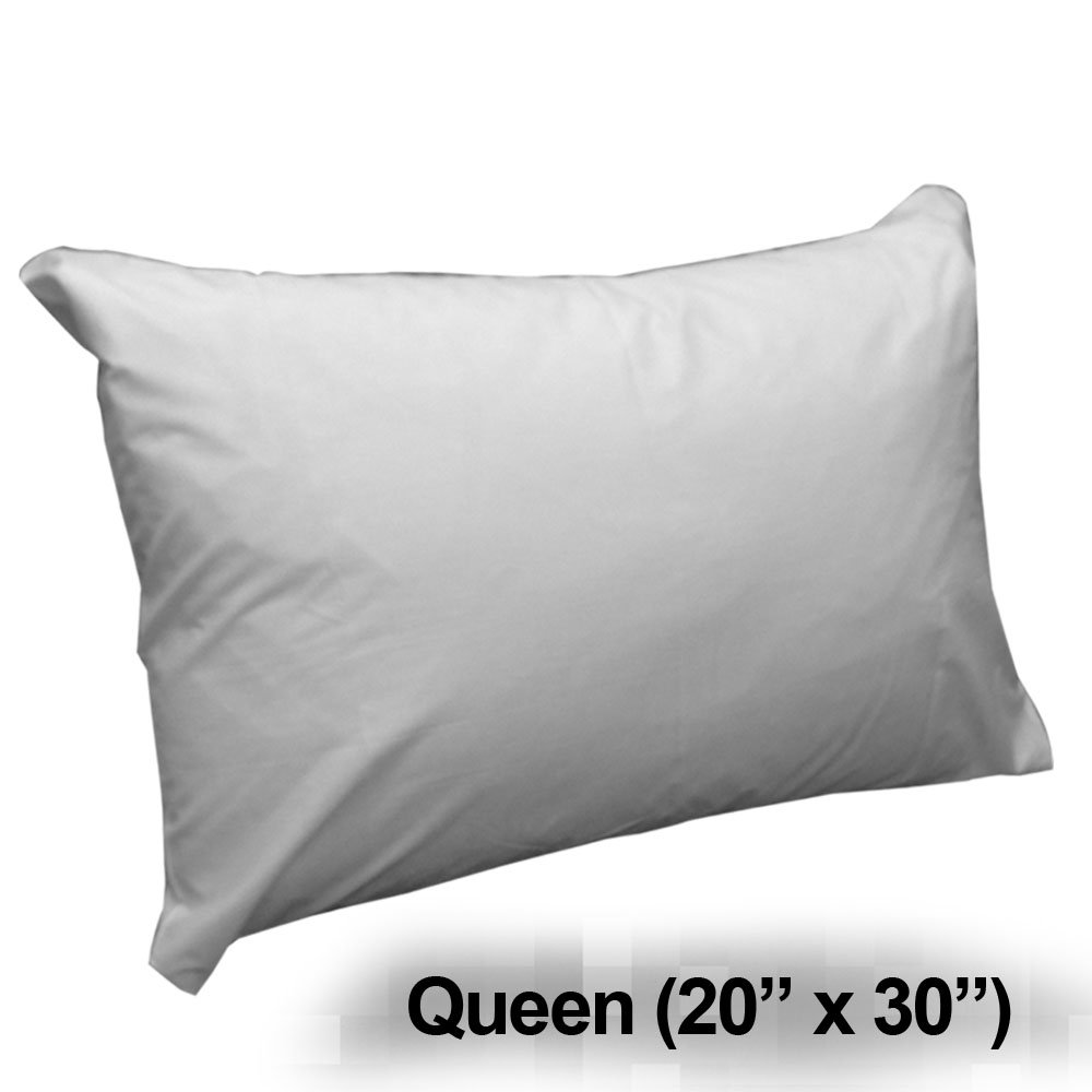 "Zippered Pillow Protectors - (Pair) - Cotton / Polyester - Queen Size (20"" x 30"")"