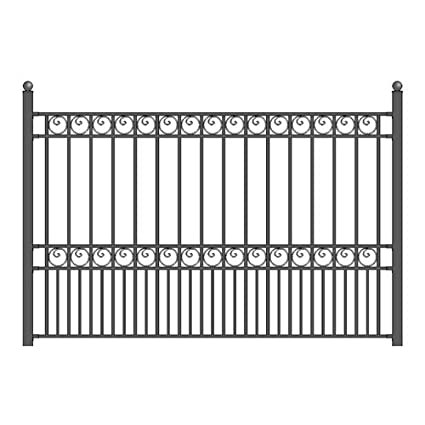 Amazon.com : ALEKO Paris Style DIY Iron Wrought Steel Fence 5.5\' X 5 ...