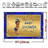 COMOPHOTO Royal Prince Baby Shower Photo Backdrop