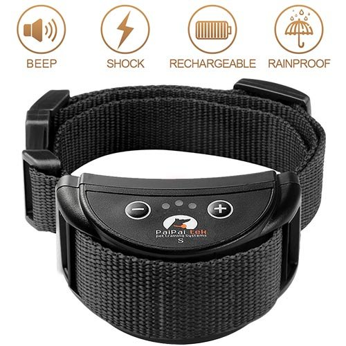 No Bark Collar Control Dog Barking, Anti Bark Collar with Beep and Safe Shock Sensitivity Stop Dog Barking Collar, Rechargeable Training Rainproof Collar for Small Medium Large Dogs