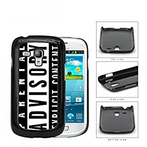 Parental Advisory Explicit Content Hard Plastic Snap On Cell Phone Case Samsung Galaxy S3 SIII Mini I8200 by runtopwell