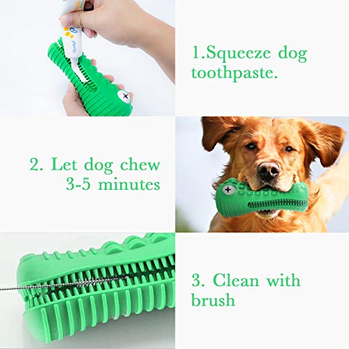 Dog Chew Toy Tough Durable Indestructible Dental Toothbrush Teeth Cleaning Toy for Medium Large Pet Dogs