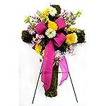 Spring-Wildflower-Cemetery-Cross