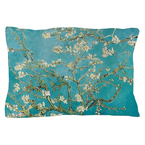 CafePress Van Gogh Almond Blossoms Standard Size Pillow Case, 20