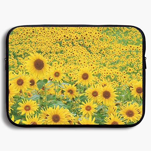 (Xxh 13Inch Laptop Sleeve Case Sunflower Field Neoprene Cover Bag Compatible IPad Pro)