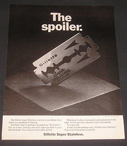 1967-print-ad-gillette-super-stainless-steel-shaving-blades-the-spoiler-mens-grooming-aids-original-