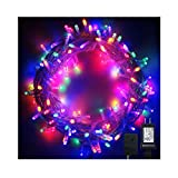 PMS 1000 LED String Fairy Lights on Clear Cable with 8 Light Effects, Low Voltage Transformer, UL Listed, Ideal for Christmas, Xmas, Party,Wedding,etc (1000 LEDs, Multi Color)