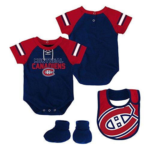 Montreal Canadiens Newborn Little D-Man Creeper Bib /& Booties Set