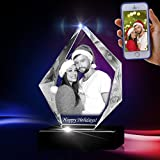 3D Prestige Crystal - Memorable Custom Transparent Gift for Anniversary, Valentine's Day, Christmas, and Wedding