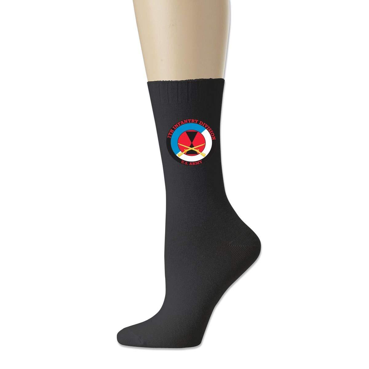 Cotton Crew Bobbysox Ski Socks Unisex Soccer Socks 32nd Infantry Division