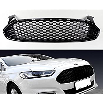 Replacement For Ford Fusion 2013 2014 2015 2016 Front Bumper Upper Hood Mesh Grille Assembly DS7Z-8200-BA FO1200553