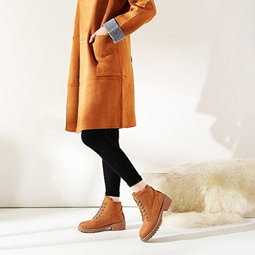 Women 's Martin boots autumn students personality fashion short boots ( Color : Brown , Size : US:6UK:5EUR:37 ) by LI SHI XIANG SHOP (Image #6)