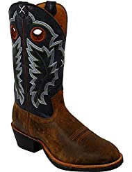 Twisted X Mens Ruff Stock Cowboy Boot Round Toe - Mrs0037