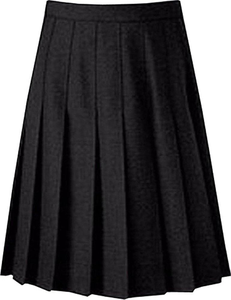 School-Uniform Senior Drop Waist Pleated School Skirt Girls Summer Schoolgear