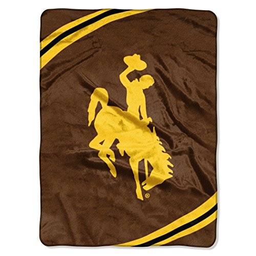 - NCAA Wyoming Cowboys Force Plush Raschel Throw, 60
