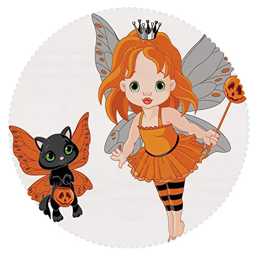 iPrint Anti-Bacterial Round Tablecloth [ Halloween,Halloween Baby Fairy