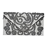 Diwaah Womens Envelope Clutch Evening Handbag For Cocktail/Wedding/Party