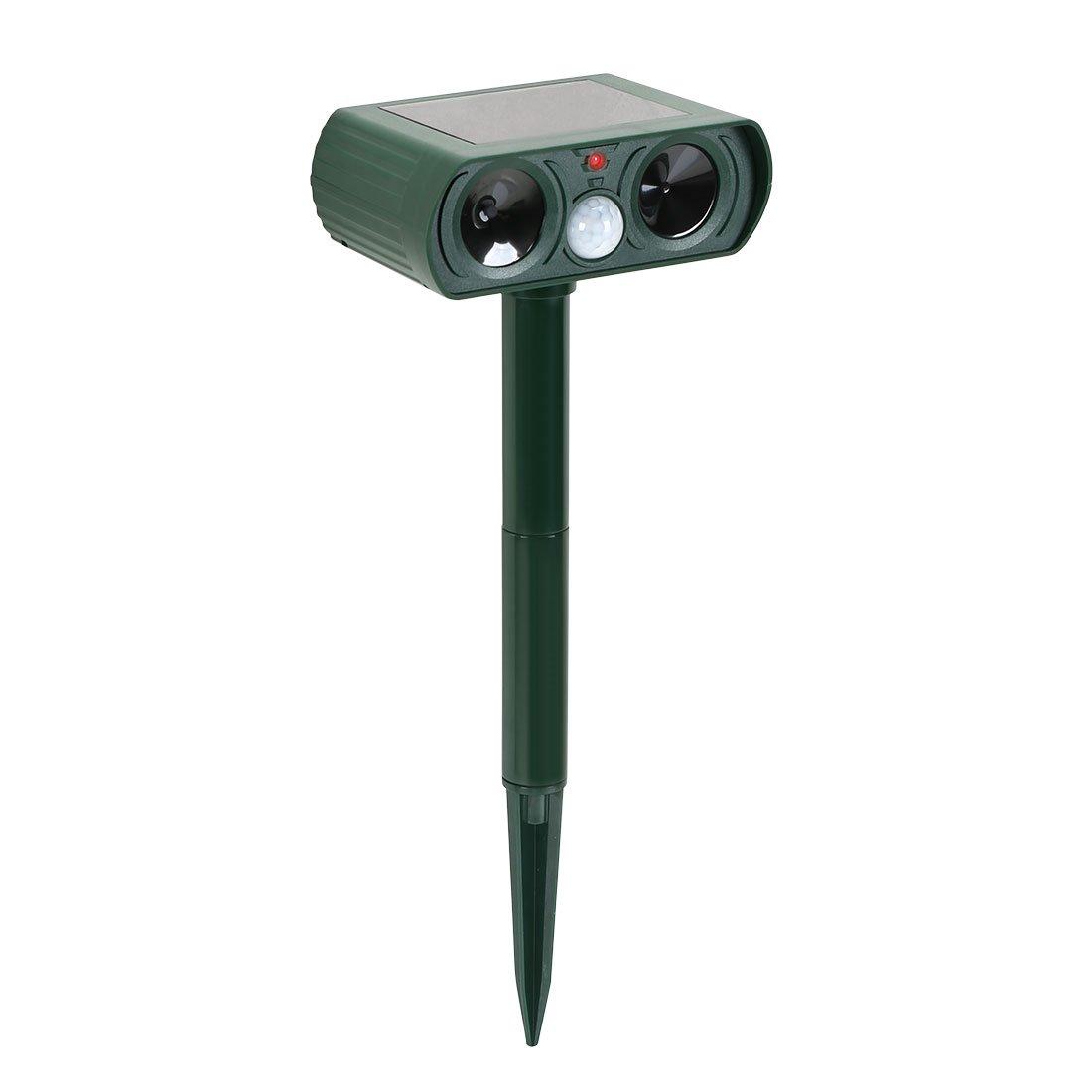 AHHC Ahuyentador de Animales Ultrasonico (Pájaros, Perros, Gatos, Ciervos, etc.) Impermeable con Sensor de Movimiento. No Causa Daño ni es Tóxico.