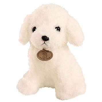 YeahiBaby Teddy Dog Doll Juguete Animal de Peluche Peluche Perro Juguete Cachorro Cojín Almohada Blanco
