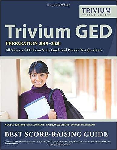 Trivium Tour 2020 Trivium GED Preparation 2019 2020 All Subjects: GED Exam Study