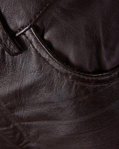 JCC Lederhose mit Reißverschluss Am Beinabschluss 9180 Brown Dark Brown teMO1