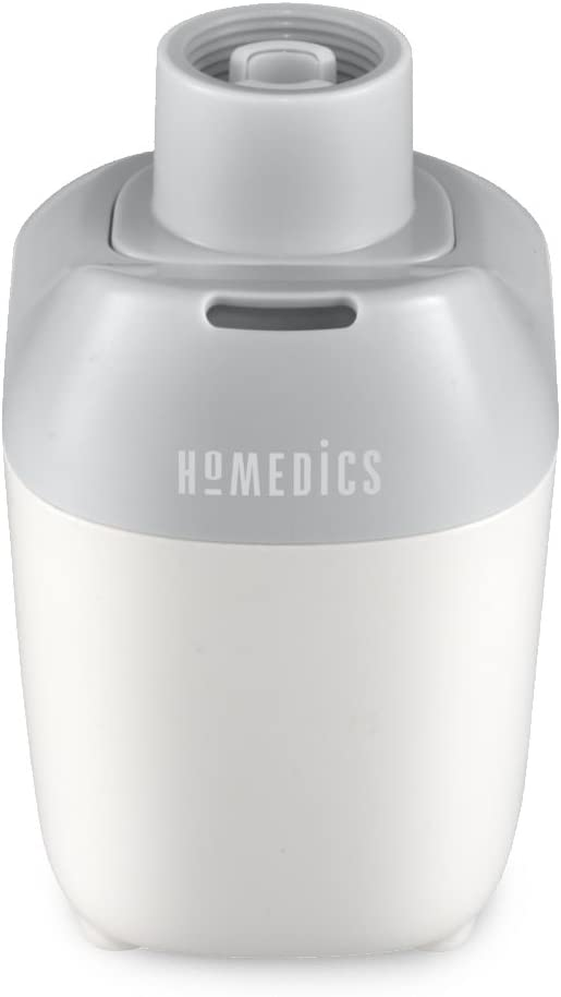 Personal Travel Ultrasonic Humidifier | Portable Mister, 9 Hour Runtime, Silent Personal Water Purifier | BONUS FREE TRAVEL BAG, Uses Standard Water Bottle, Car, Office, Cubicle & Bedroom HoMedics