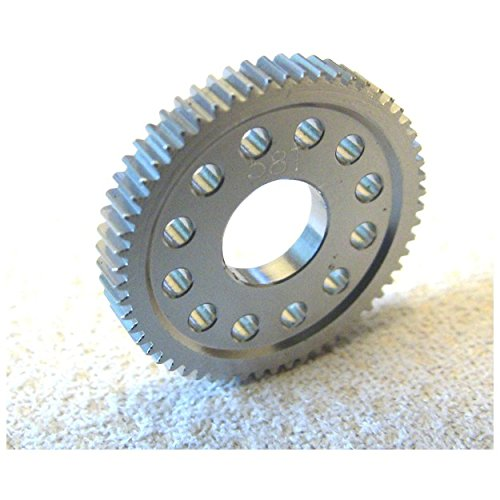 58t Spur Gear (Hot Racing MFD458T Hard Anodized Aluminum Spur Gear (58t) - Losi 1/24 Micro)