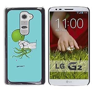 LECELL -- Funda protectora / Cubierta / Piel For LG G2 D800 D802 D802TA D803 VS980 LS980 -- Funny Got Ink Squid Octopus --