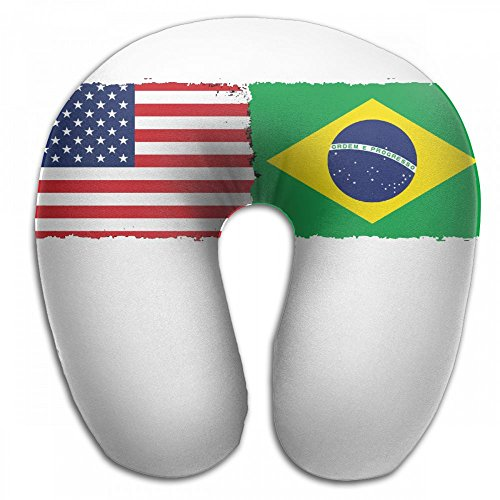 - ChunLei Comfortable Travel Pillow The United States And Brazil Memory Foam U Shaped Pillow Airplane Pillow Rest Neck Pillow