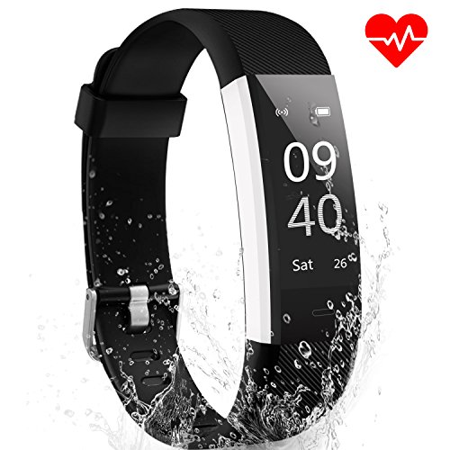 Fitness Tracker Watch ANEKEN Activity Tracker with Heart Rate Sleep Monitor Waterproof Smart Bracelet Pedometer Wristband Smart Watch for Kids Women and Men, Android & iOS Smart Phones by ANEKEN