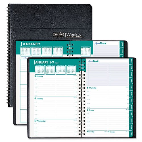 (House of Doolittle Express Track Weekly/Monthly Planner 13 Months January 2015 to January 2016, 5 x 8 Inches, Black Cover, Recycled (HOD29402-15))