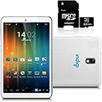 inDigi White 7 Android 4.2 JB Premium Leather Back Tablet PC w/ 32GB Micro SD
