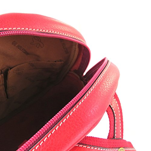Volver bolsa de cuero 'Gil Holsters'rojo.
