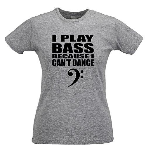 Tim and Ted Suono Il Basso perché Cant Danza Chitarra Clef Bassista della Novità T-Shirt da Donna