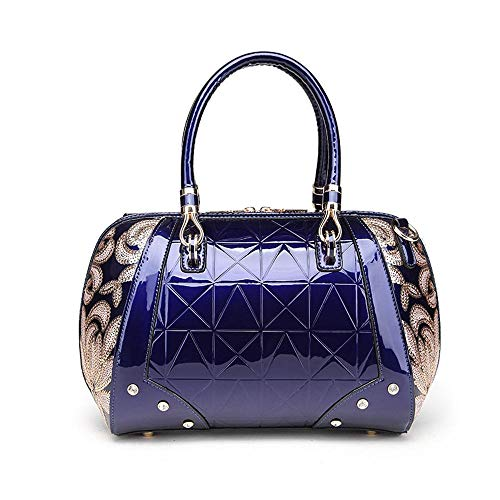 Leather Bag Skin A Patent Fashion Bag Hongge Handbag PU Hundred lap Oblique Shoulder Bag Span 4wFBYzfq