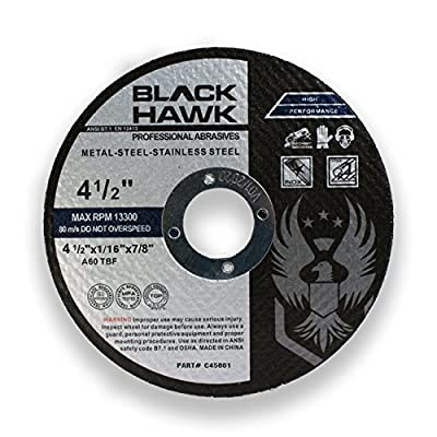 """25 Pack 4-1/2"""" x 1/16"""" x 7/8"""" Metal and Stainless Steel Cut Off Wheels - For Angle Grinders"""