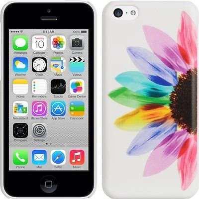 - LUXMO SUNRISE CASE WHITE UV COVER COLORFUL RAINBOW SUNFLOWER FOR iPHONE 5 5s