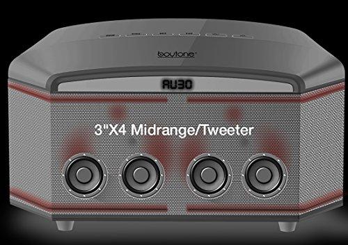 Boytone BT-64B, Wireless Bluetooth Premium HiFi Stereo, Home Theater Speaker 100w, Powerful Super Bass, Clear Sound, 6.5'' Subwoofer, 3''X4 Midrange/Tweeter, FM Radio, Disco light, USB/SD/MP3 by Boytone (Image #1)